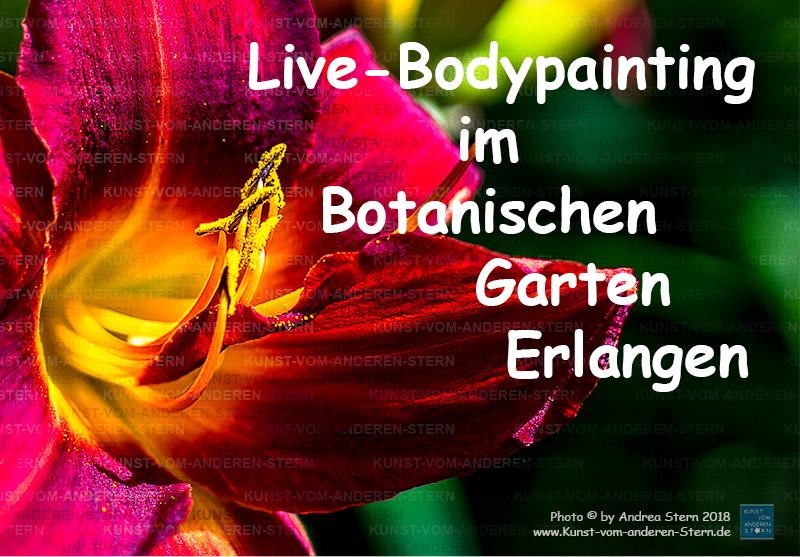 Live-Painting im Botanischen Garten Erlangen – Ende August 2018