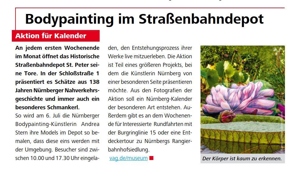 Mein neues Bodypaintingprojekt 2019 in Nürnberg startet in Kürze