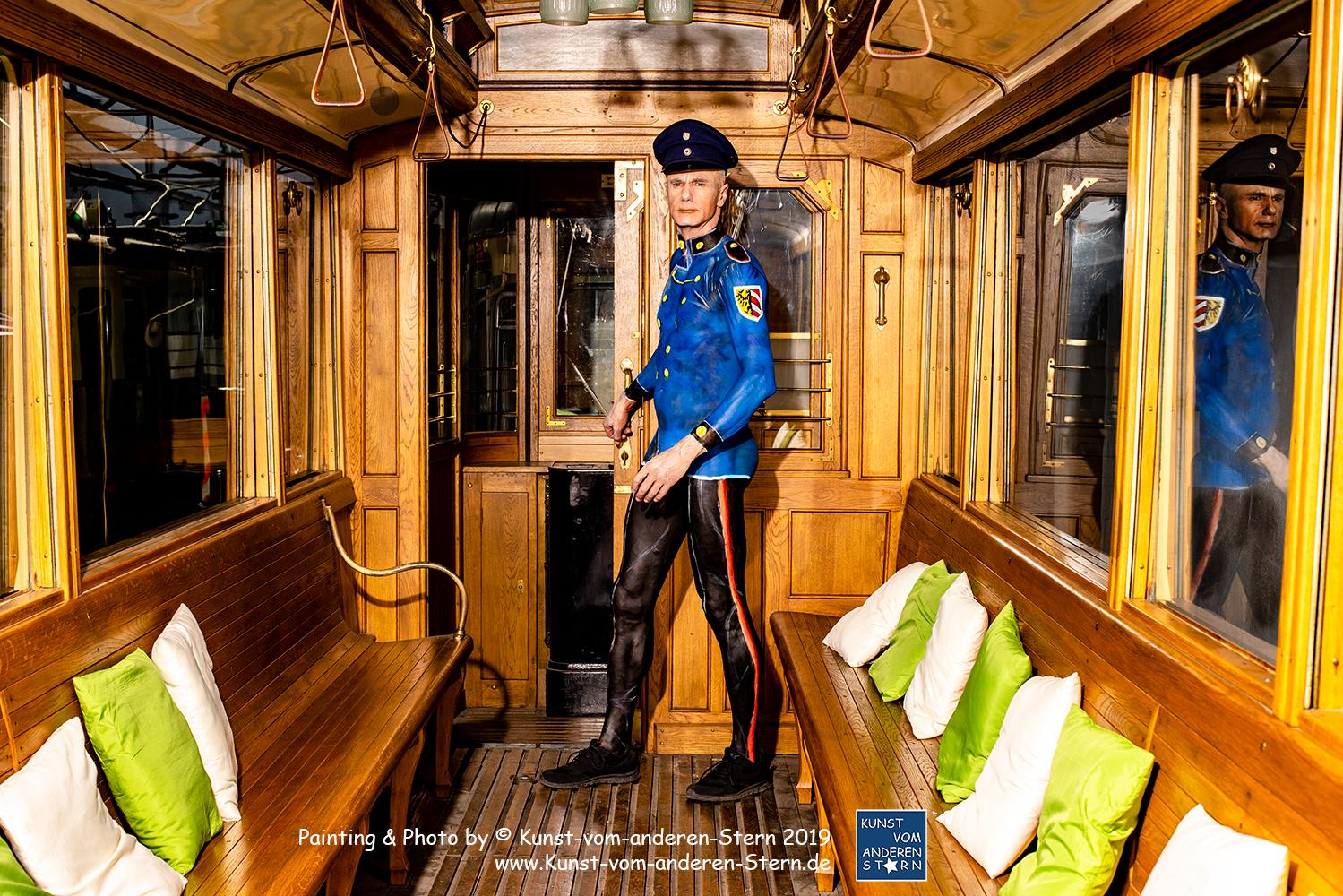 Bodypaintingprojekt Nürnberg – Live Bodypainting im historischen Straßenbahndepot St. Peters