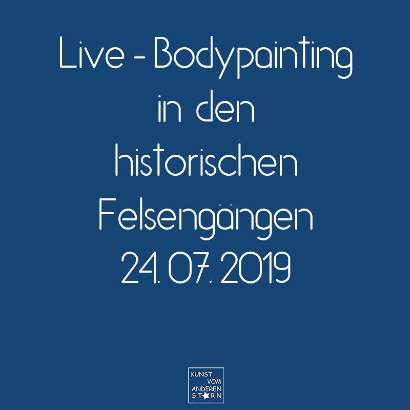 Bodypaintingprojekt Nürnberg – Live-Bodypainting in den Historische Felsengänge