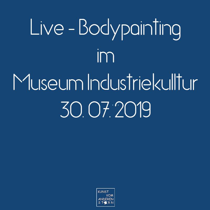Bodypaintingprojekt Nürnberg – Live-Bodypaitning in Museum Industriekultur