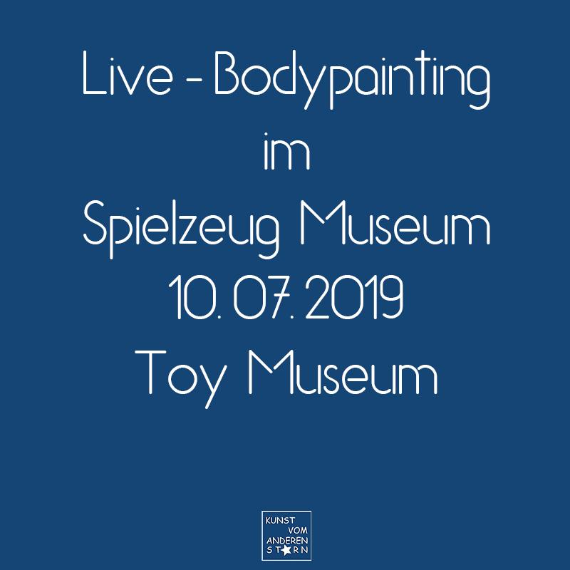 Bodypaintingprojekt Nürnberg – Live Bodypainting im Spielzeugmuseum