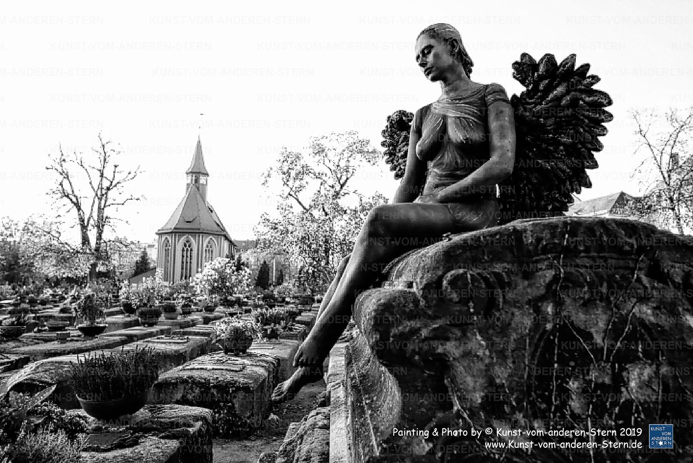 Stadtchamäleons – Bodypainting für eine ganz besondere Location – Friedhof St. Johannis – 16. Projekt-Painting