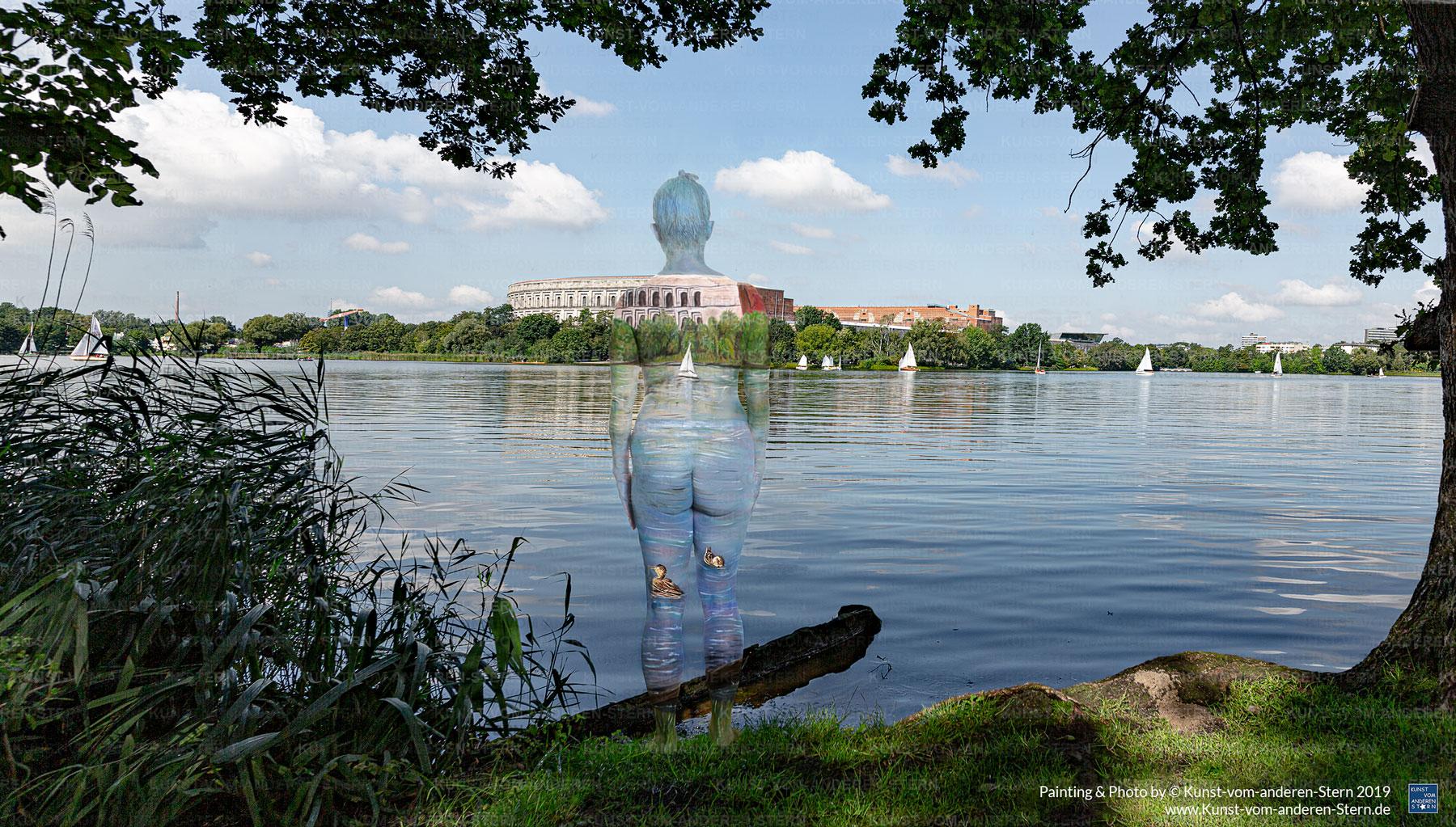 Bodypainting am Dutzendteich – Stadtchamäleons