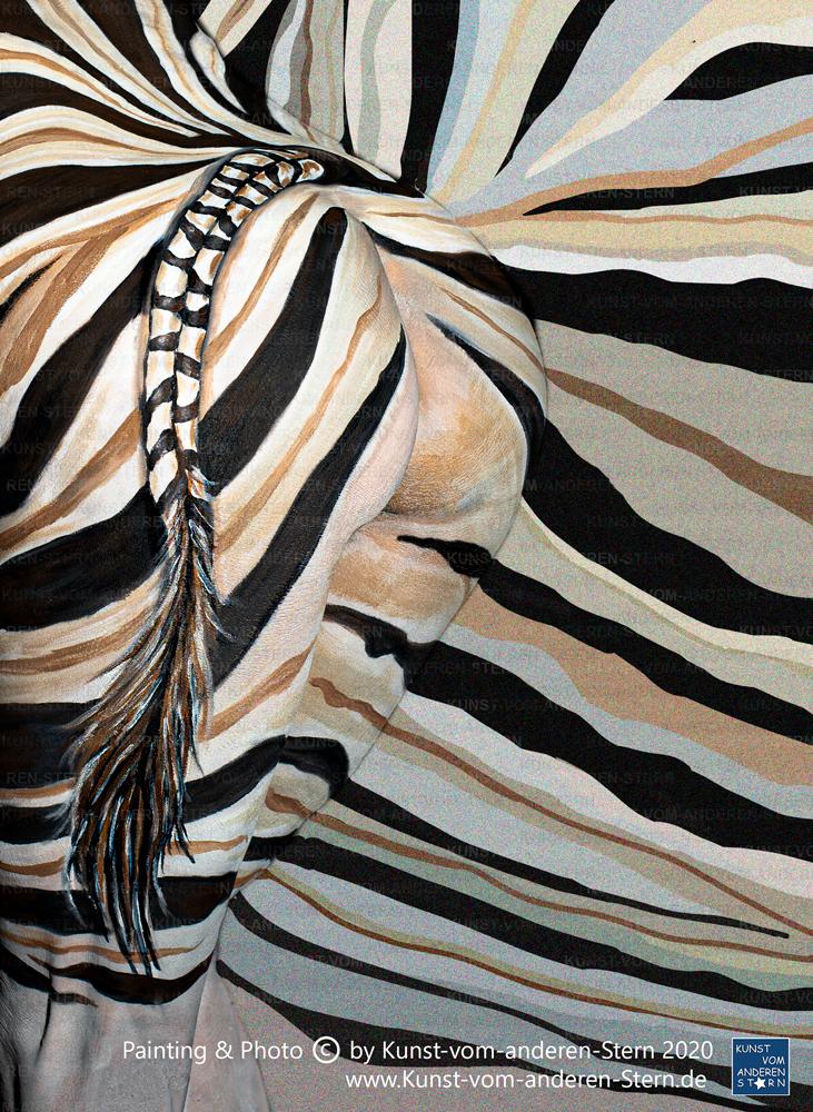 Bodypainting – Streifentier