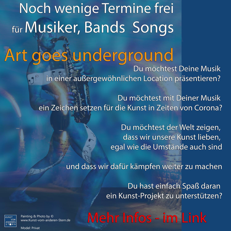 Bodypainting-Projekt 2021 – Art goes Underground – Musikersuche